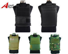 4 Colors Airsoft Tactical Military Hunting Combat Plate Carrier Vest BK/TAN/OD
