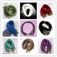"""Wholesale velvet Strings With Connector For Necklace CORDS 20"""" U"""