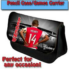 THIERRY HENRY ARSENAL UNOFFICIAL PENCIL CASE KIDS GAMES CARRIER DS TRAVEL BAG