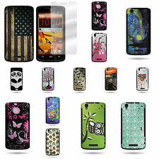 For ZTE Max / Boost Max - TPU Hybrid Phone Cover Case and Screen Protector