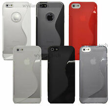For Apple iPhone 5 5S S Design TPU Skin Case Durable Soft Gel Grip Cover