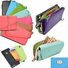 New Lady Designer universal Smartphone purse Case cover Flip Mini Wallet Clutch