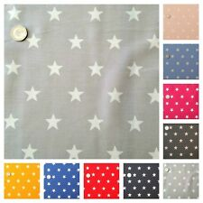Star Fabric 20mm White Star 100% Cotton, Fat Quarter, Half Metre or Metre.