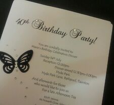 Handmade Brianna Butterfly Birthday Invitations - Personalised to Order