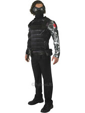 Adult Marvel Winter Soldier Outfit Fancy Dress Costume Captain America Avengers