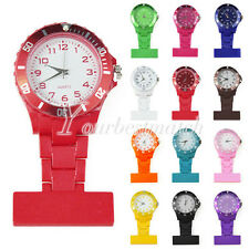 23 Candy Colors Nurse Watches Brooch Pocket Fobwatches Rubberized Plastic Watch