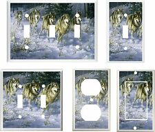 WOLVES WOLF ON THE RUN IMAGE  LIGHT SWITCH COVER PLATE OR OUTLET