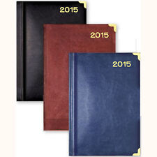 Leather Feel A5 2015 Week Day to Page Diary Pocket Casebound Journal UFW15