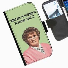 Mrs Browns Boys Leather wallet mobile phone Skin case Personalised iPhone