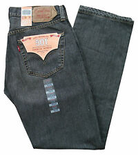 New Levi 501 Red Tab Men's Straight Leg Button Fly Denim Jeans W32/32L grey 0055