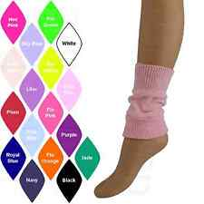 "GIRLS CHILDRENS KIDS 8"" LEG WARMERS/ANKLE WARMERS DANCE/BALLET/PARTY"