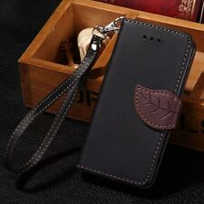 Luxury Leather Card Flip Wallet Case Stand Cover For Samsung iPhone 4 5 S 6 plus