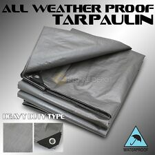 All Weather Tarp Resistant Tarpaulin Tent Light Weight Reinforced Poly Cover HD