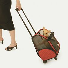 Roll Around wheeled Dog Backpack-Bed-Car Seat- airline pet Carrier 4 in1 tote