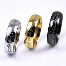 Lord of the Rings Stainless Steel mens womens Wedding Engagement ring hot sale
