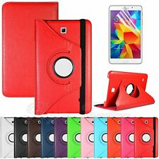 "360 Rotating Leather Case Stand Cover For Samsung Galaxy Tab 4 8.0"" T330 + Film"