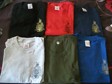 ROYAL MARINES T SHIRT WITH GLOBE AND LAUREL SIZES M - XXL VARIOUS COLOURS