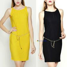Sex Women's Celeb Comfy Sleeveless Pullover Casual Stretch Party Mini Dress