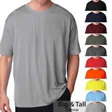 Big Men's UltraClub Cool-n-Dry Performance T-Shirt Short Sleeve Sizes 3XL to 6XL