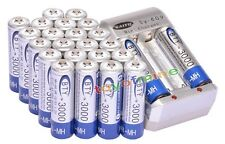 24 xAA Ni-MH 3000mAh rechargeable battery BTY+AA AAA Rechargable battery Charger
