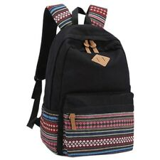 HOT Vintage Girl Boys Unisex Backpack Rucksack Satchel Traval School Bag Bookbag