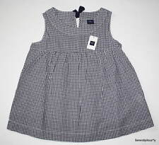 NWT Gap Kids Garden Green Military Blue Gingham Tank Top S M