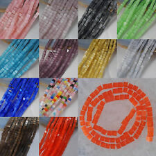 "4MM Cat's Eye Cube Loose Beads Strand 15"" Selected Color Jewelry Making"