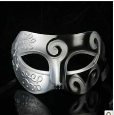 "New Mens burnished silver masquerade mask ""Titan"" eye mask masked ball Venetian"