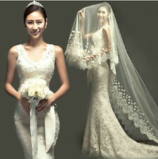 sexy sexy slim fitted v neck  lace fishtail formal gown Wedding dress 7SZ