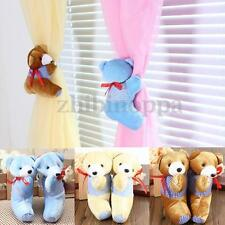 1 Pair Baby Bedroom Plush Bear Curtain Tieback Holder Hook Buckle Cartoon Decors