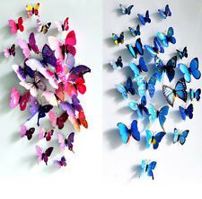 Butterfly Sticker Art Decal Wall Stickers Home Decor Room Decorations 3D Design