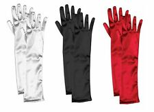 Elbow Length Satin Opera Formal Long Gloves Child Girls Costume Accessory