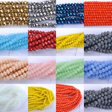 Wholesale 20-100pcs Quality Czech Crystal Faceted Rondelle Beads 6MM 8MM 10MM