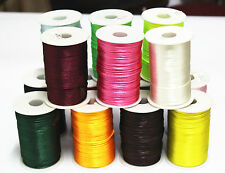 5yd/10yd/100yd Satin Rattail Cord 2 MM nylon jewelry macrame kumihimo beads C