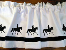 Dressage Horse and Rider Window Valance *Your Choice of Colors* Our Original!