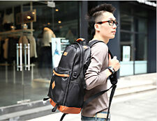 New Style Faux Leather Men Backpack Shoulder Bags School Book Bags