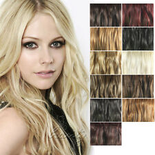 ONE PIECE 3/4 FULL HEAD HEAT RESISTANT SYNTHETIC CLIP IN HAIR EXTENSIONS