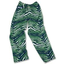 Seattle Seahawks Zubaz Pants - Neon Green/College Navy