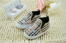 Toddler Baby Boy Girl Stripe Soft Sole Shoes Sneaker Size Newborn to 18 Months