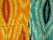 "Asian Eye Fiji 100% Cotton Scarf  Tropical Print 76"" x 14"" Color Choice NWT"