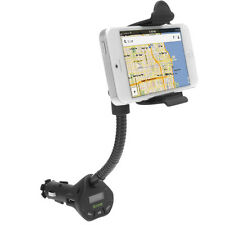 4in1 Features Mount Holder Car Kit w/ USB Port & FM Transmitter For Cell Phone