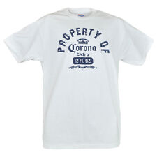 Property Of Corona Extra Authentic Hanes Men Graphic Tee Distressed Novelty