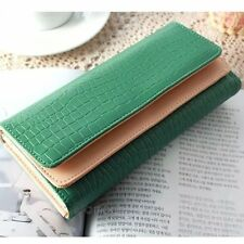 New Women's Long Lady Purse Clutch Wallet Leather Card Coin Gift Bag 6 Colors