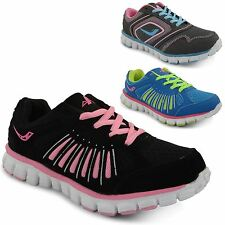 Ladies Lace Up Sports Trainers Running Gym Jogging Walking Womens Casual Shoes