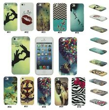 For iPhone 4 4S 5 5S Fashion Pattern Silicone TPU Soft Skin Protector Case Cover