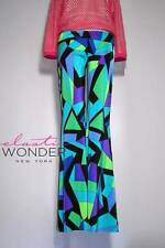 Elastic Wonder Bell Bottom Pucci-Esque Pattern Print Palazzo Pants - Made In USA