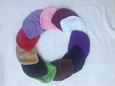 Kufi Crochet Cap Hat Toddler Girls Knit Beanie for Hair Bow Wholesale LOT Pink