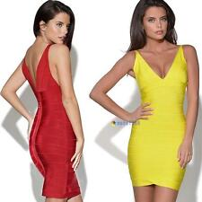 New Women's sexy Bandage V-Neck bodycon cocktail evening party pencil dress MT