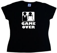 Game Over Wedding Funny Ladies T-Shirt