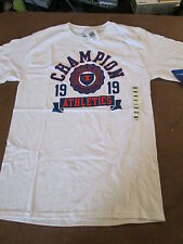 $18 AUTHENTIC CHAMPION 1919 DEPARTMENT OF ATHLETIC VICTORY & COURAGE TEE S & XL
